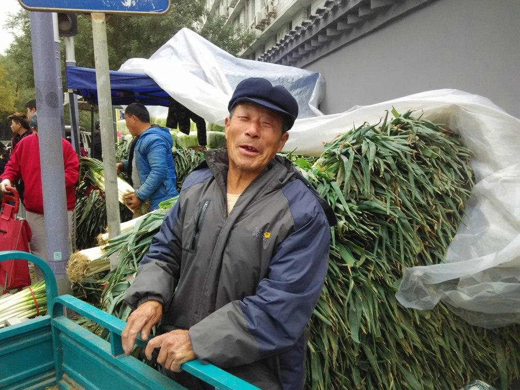 Vendeur de poireaux