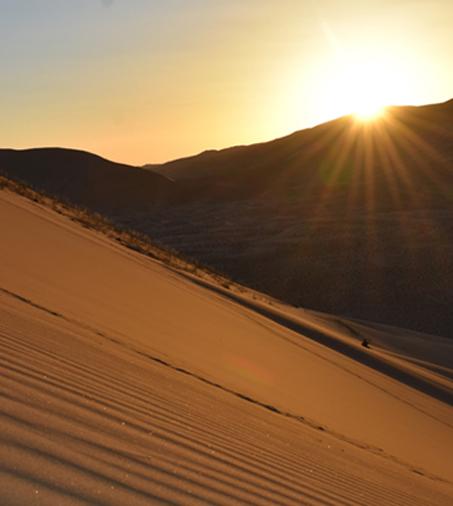 Coucher de soleil au Badain Jaran