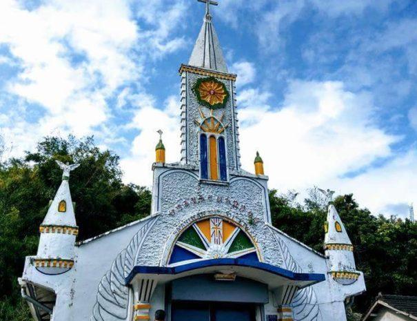 Taiwan le corre postal card church